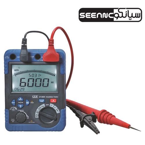 تستر عایق کابل ولتاژ بالا ،میگر۵ کیلوولت DC  سی ای ام مدل CEM DT-6605