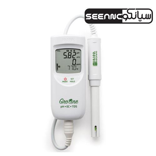 دستگاه pH/EC/TDS متر هانا آمریکا مدل HANNA HI9814