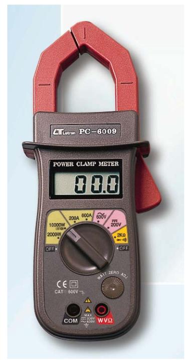 وات متر، توان سنج کلمپی لوترون LUTRON PC-6009