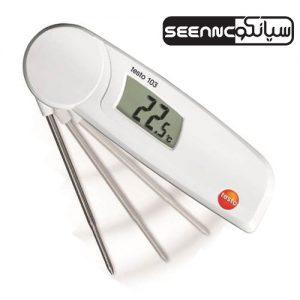 دماسنج تماسی دیجیتال تستو مناسب آشپزخانه مدل TESTO 103