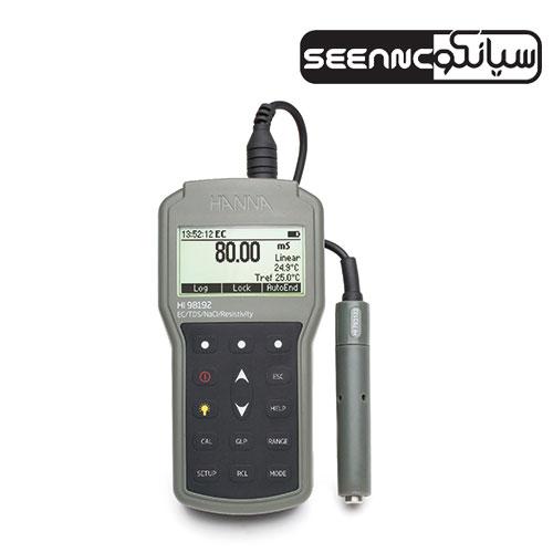 دستگاه TDSمتر و ECمتر پرتابل مدل HANNA HI98192