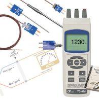راهنمای کاربری کالیبراتور دماسنج های تماسی و ترموکوپل لوترون مدل LUTRON TC-424