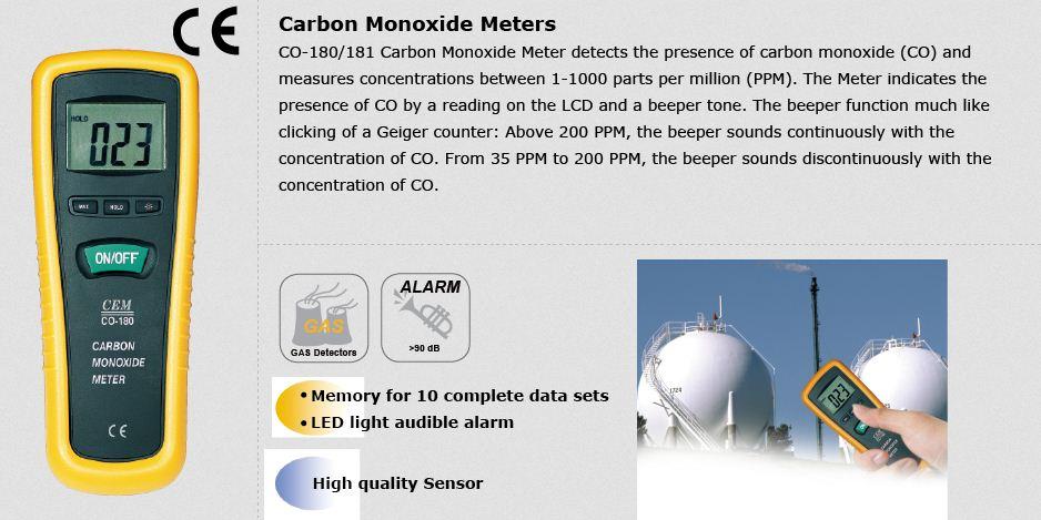 دستگاه CO سنج دیجیتالی مدل CEM CO-181