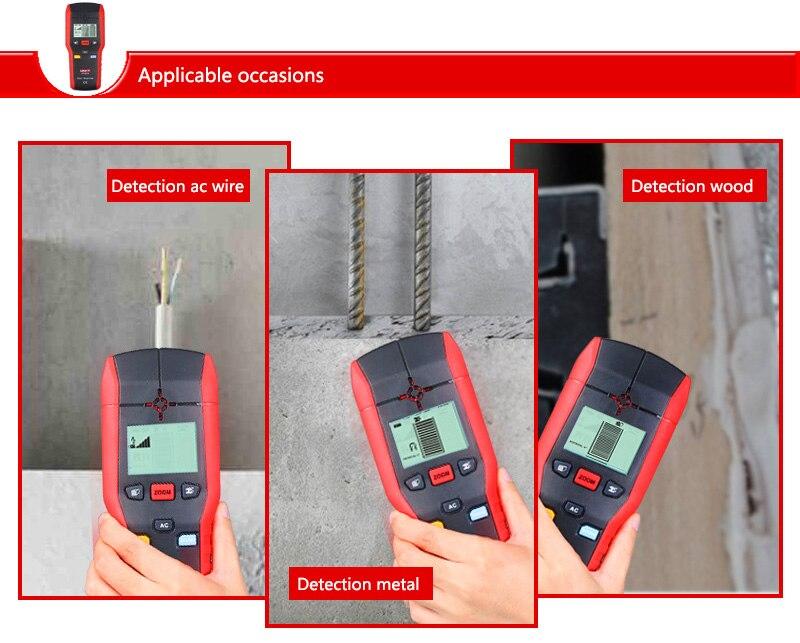ON-SALE-UNI-T-UT387B-Diagnostic-Tool-Multifunctional-Handheld-Wall-Detector-Metal-Wood-AC-Cable-FinderScanner