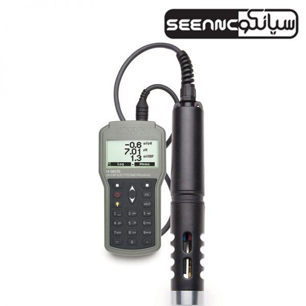 مولتی پارامتر (pH/ORP/ EC/دما/فشار) هانا HANNA HI98195